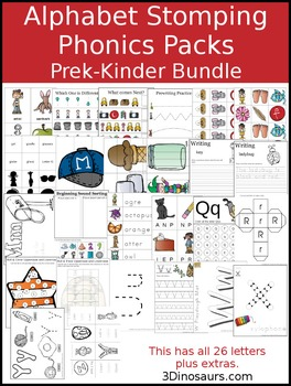 Alphabet Stomping Phonics Pack Bundle