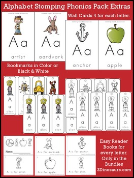 Alphabet Stomping Phonics Packs Prek-Kinder Bundle