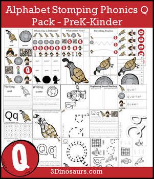 Alphabet Stomping Phonics Q Pack - PreK-Kinder