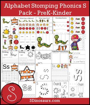 Alphabet Stomping Phonics S Pack - PreK-Kinder
