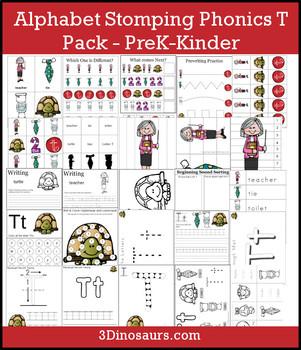 Alphabet Stomping Phonics T Pack - PreK-Kinder