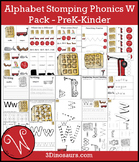 Alphabet Stomping Phonics W Pack - PreK-Kinder