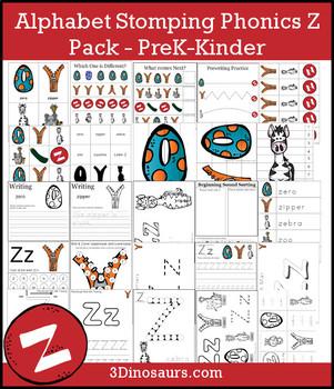 Alphabet Stomping Phonics Z Pack - PreK-Kinder