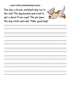 Alphabet Story Handwriting Practice