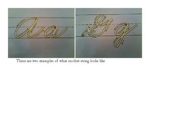 Alphabet String Art Manuscript