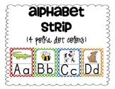 Alphabet Strip {4 polka dot colors}