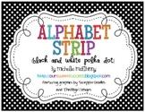 Alphabet Strip {Black and White Polka Dot}