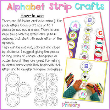Alphabet Letter Sounds Strip Crafts