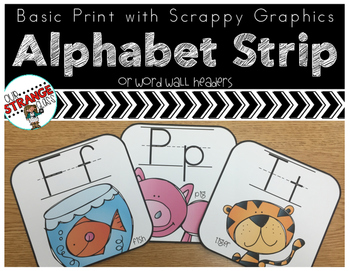 Basic Print Alphabet Strip