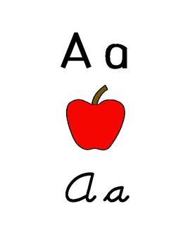 Alphabet Strip - Manuscript and Cursive