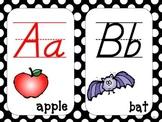 Alphabet Strip - Polka Dot D'Nealian