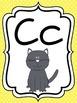 Alphabet Strip - Print with Animals - Bright Polka Dot