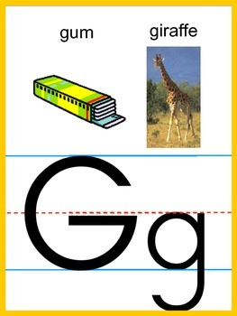 Alphabet Strip (full page letter cards)