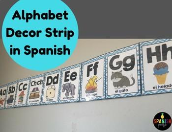 Alphabet Strip in Spanish for Wall (Alfabeto para la pared)