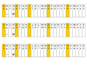 """Alphabet Strip to Help with Reversals of the Letters """"b"""" and """"d"""""""