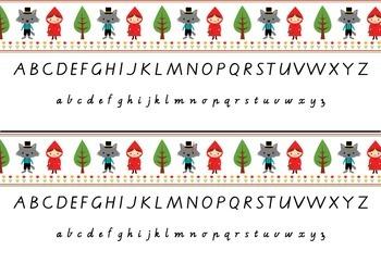 Alphabet Strip with Victorian Modern Cursive Font