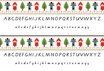 Alphabet Strip with Victorian Modern Cursive Font