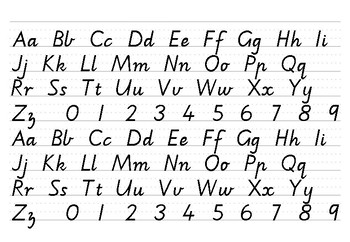 Alphabet Strips and Letter Formation - Victorian Modern Cursive