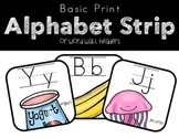 Print Alphabet Strips and Word Wall Headers