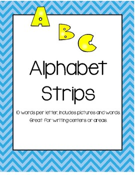 Alphabet Strips for Writing