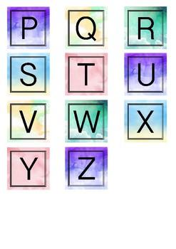 Alphabet Summary