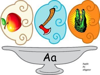 Alphabet Sundaes 3 scoops center