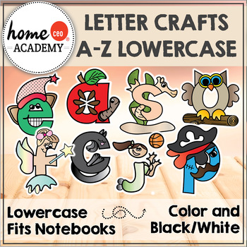 Alphabet Interactive Notebook (LOWERCASE) - Letter Craft A-Z Characters