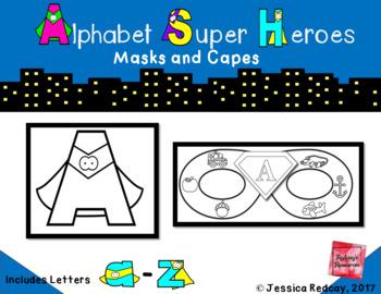 Alphabet Super Hero Masks and Cape