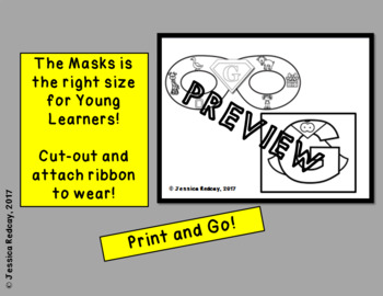 Alphabet Super Hero Masks and Cape
