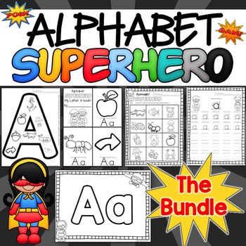 Alphabet Superhero BUNDLE A-M