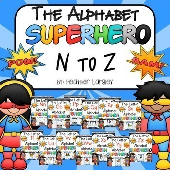 Alphabet Superhero BUNDLE N-Z