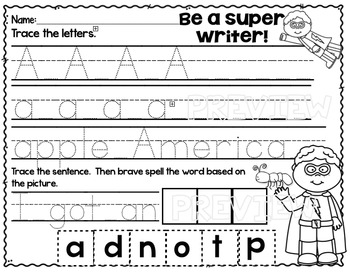 Alphabet Superhero Letter A