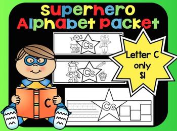 Alphabet Superhero Letter C