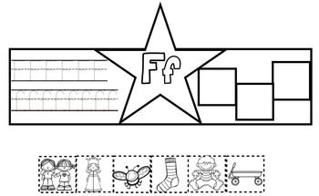 Alphabet Superhero Letter F