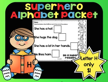 Alphabet Superhero Letter H