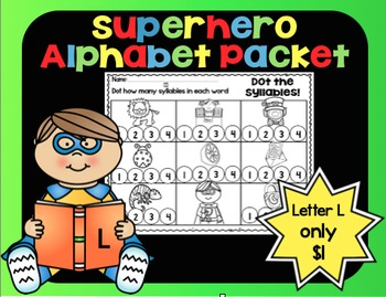 Alphabet Superhero Letter L
