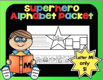 Alphabet Superhero Letter M