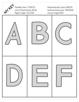 Alphabet Symmetry & Geometry
