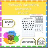 Alphabet Symmetry - Grade 4 Geometry Worksheet (4.G.3)