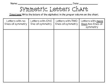 Alphabet Symmetry Packet