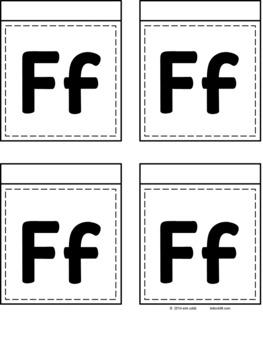 Alphabet Table Tent Flipbook