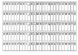 Alphabet Tabs