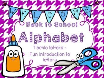 Alphabet Tactile Letters