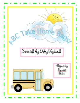 Alphabet Take Home Bags and Literacy Centers