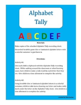 Alphabet Tally