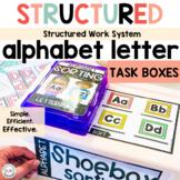 Alphabet Task Boxes for Preschool Special Education