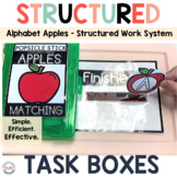 Alphabet Task Boxes for Preschool and Special Education Ap