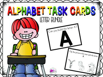 Letter Task Card Bundle