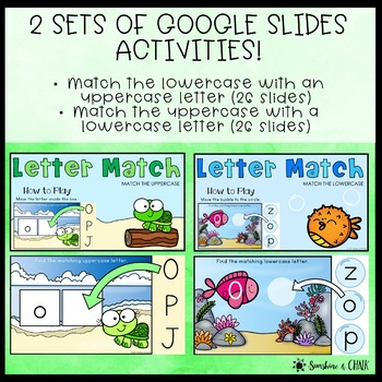 Alphabet Task Cards ❘ Letter Recognition through Matching