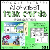 Google Slides   Alphabet Task Cards ❘ Letter Recognition t